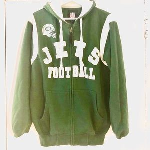 super popular a12ad 6354d NFL NY Jets Embroidered Zippered Pocket Hoodie